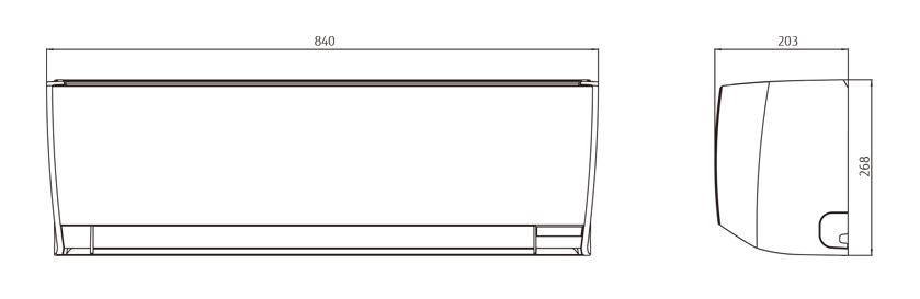 dimensions  air conditioning general ashg09lmca